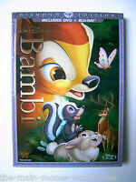 Disney's Animation Masterpiece Bambi 2-disc Dvd Blu-ray 2011 Diamond Edition