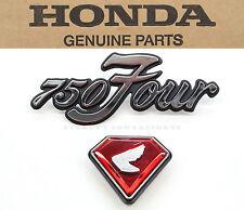 New Left Side Cover Emblems 1970-1972 CB750 K1-K2 Honda Badges Red Jewel #E96