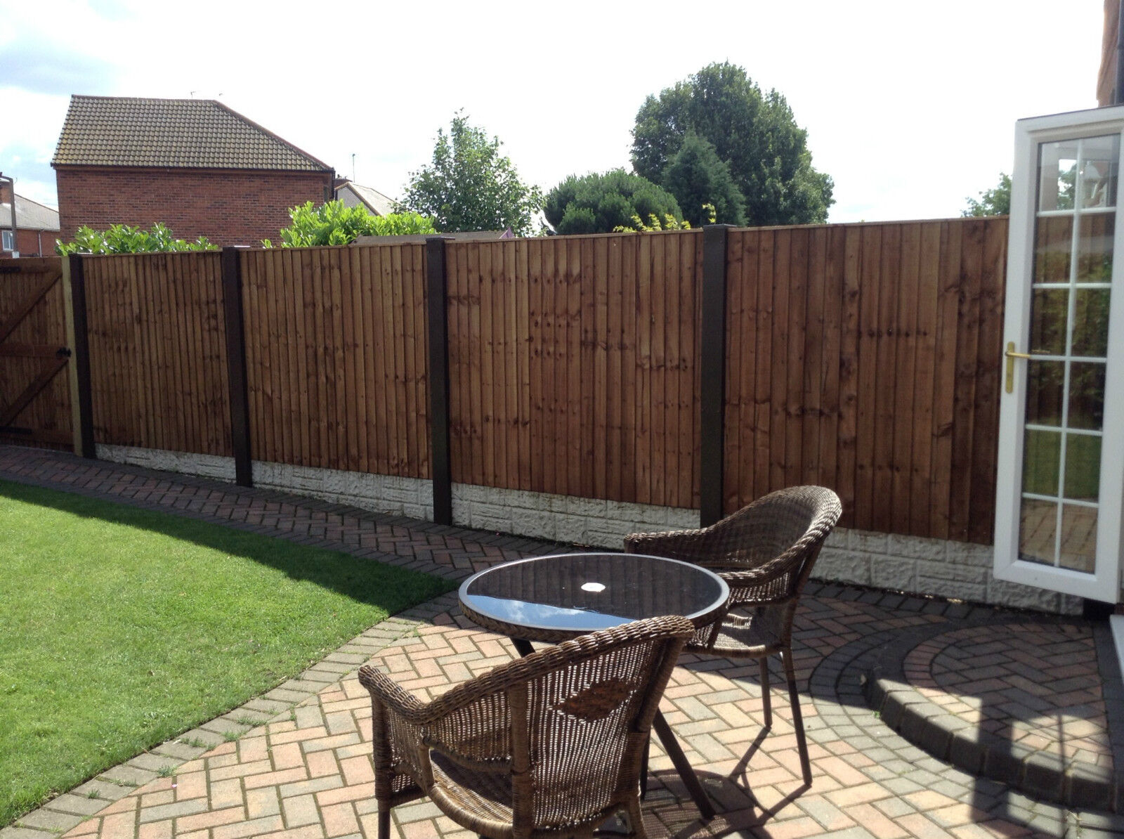 Concrete Fence Post Extender All Garden Fence Panels Fit Solid Steel 29 Colours For Sale Ebay