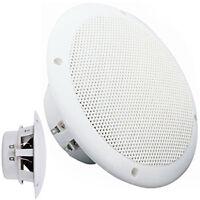 """Pair-Waterproof Ceiling Speakers- 80W 8ohm 5"""" -Kitchen Bathroom Water Resistant"""
