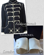 CHANEL OFF WHITE ECRU TWO BUTTONS CUFFS FOR JACKET sz 38-40