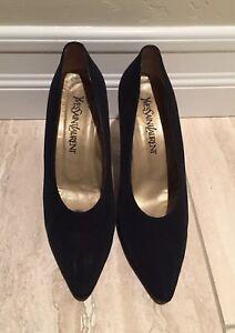 Details about Vintage Ysl Yves Saint Laurent Black Pointed Toe Heels Pumps  women s size 8 1 2 a5c367c49