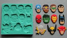 Silicone Mould SUPER HEROES 2 Sugarcraft Cake Decorating Fondant / fimo mold