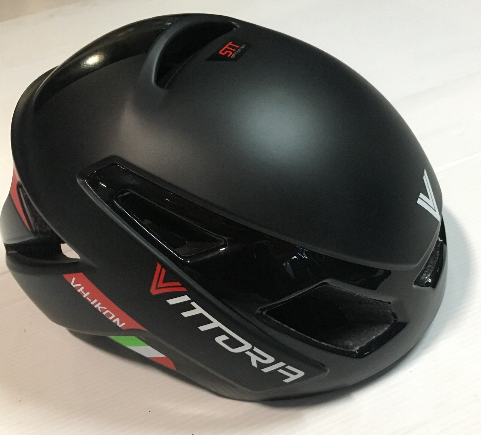 Casco bici corsa Vittoria VH Ikon negro negro road bike helmet L-XL 58-62 cm