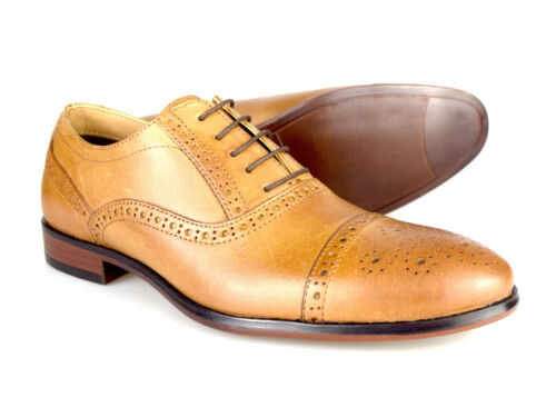 Red Tape Hartwell Men/'s Tan Leather Formal Lace-Up Shoes