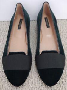 e90884b2abd NEW MARINA RINALDI  415 Linea dark green velvet black grosgrain ...