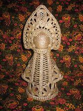 decorative doll made of natural fabrics Russian beauty handmade a Lacy souvenir