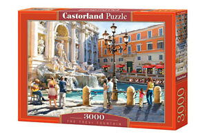 "Brand New Castorland Puzzle 3000 THE TREVI FOUNTAIN 36"" x 27"" C-300389"