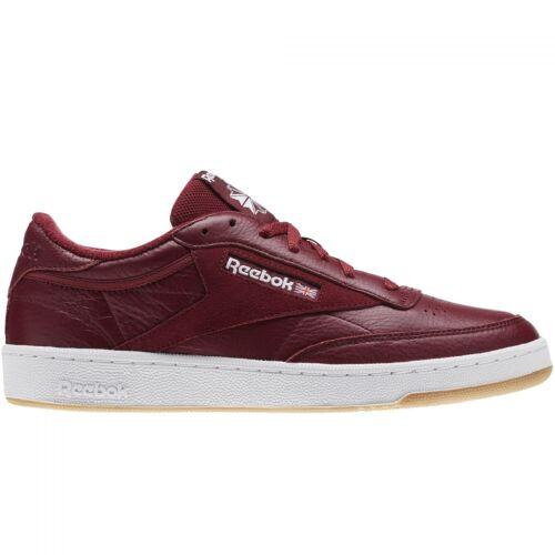 Reebok Club C 85 ESTL Sneaker Herren Freizeitschuhe Lifestyle rot Maroon CM8792