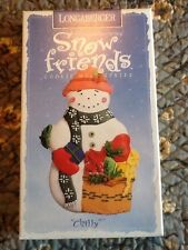 Longaberger 1997 Snow Friends Pottery Cookie Mold Chilly the Snowman - New!