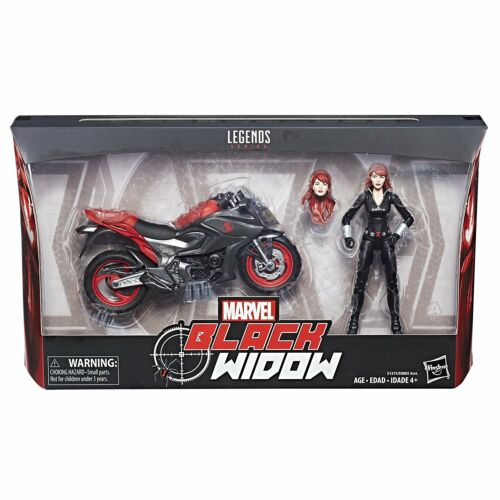 Marvel Legends ~ BLACK WIDOW w//MOTORCYCLE ACTION FIGURE BOXED SET ~ IN STOCK