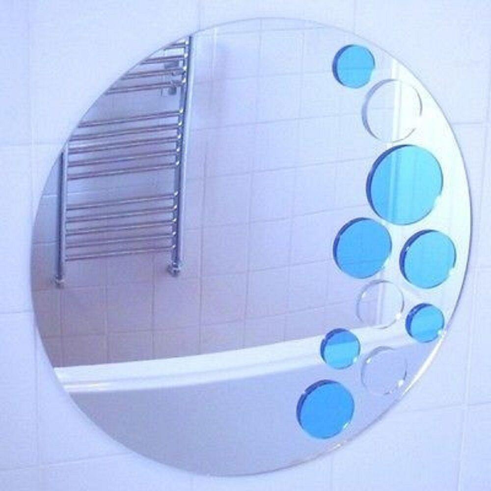 Blau und silberfarben Blasen Spiegel