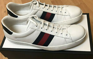 Gucci Ace low-top leather trainers UK
