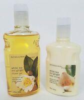 Bath Body Works White Tea Ginger Lotion Shower Gel Brand New Full Size Sealed