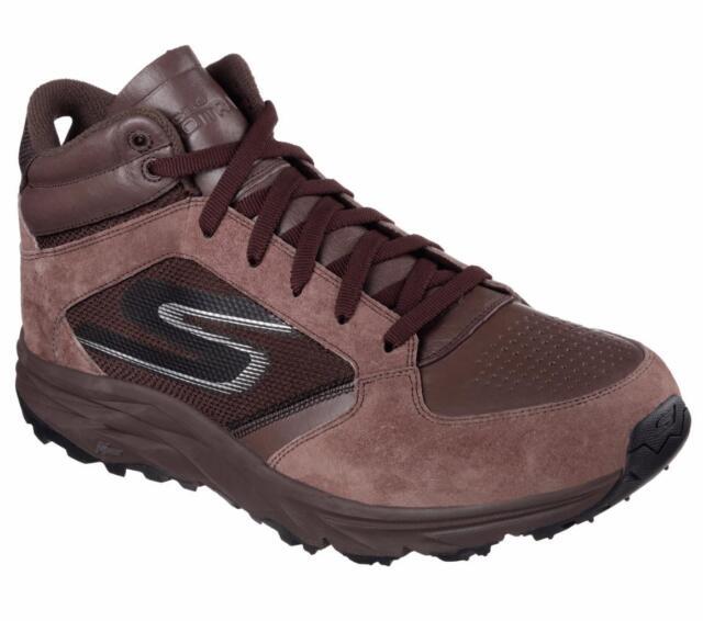 Men s Skechers Gotrail Odyssey High Top Running Shoe 12.5 M Chocolate 935116c704c0