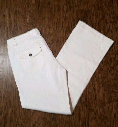 Brand New Eddie Bauer White Jeans Size 8R WOT SHIPS FAST!