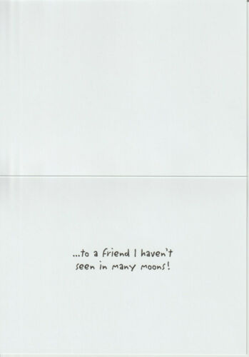 Details about  /**FUNNY** Birthday Card ~ FRIEND I HAVEN/'T SEEN IN MANY MOONS ~ NEW ~Made in USA