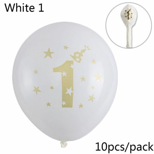 10pcs Gonflables Garçon Fille Imprimer Douche De Bébé Ballons En Latex