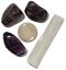 thumbnail 1 - Amethyst Polished Tumbled Stones 3 Piece Set and Bonus Selenite Crystal # 3