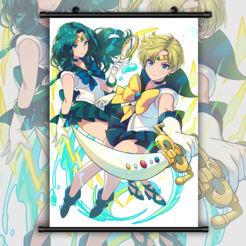 Sailor Moon Crystal Tenou Haruka HD Canvas Print Wall Poster Scroll Room Decor