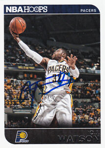 ffd3287c453b C.J. WATSON INDIANA PACERS SIGNED CARD CHICAGO BULLS NETS WARRIORS ...