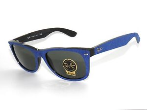 2043d220c62 Image is loading RAY-BAN-SUNGLASSES-2132-BLACK-BLUE-ALCANTARA-GREEN-