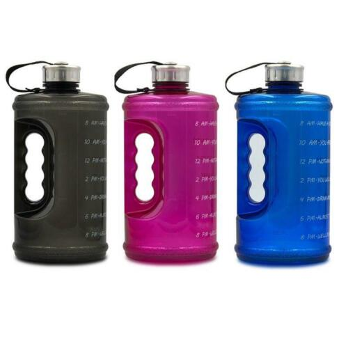 Details about  /2.2L Large Capacity Sports Water Bottle with Handle and Time Marker Outdoor