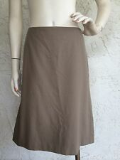 JIL SANDER 100% Wool Skirt Camel Brown Sz IT 44 US 8