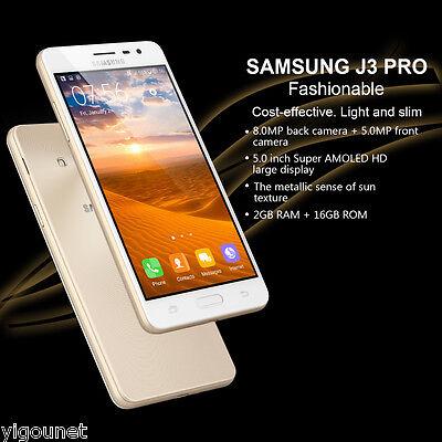 SAMSUNG J3 Pro 5¨ 2GB+16GB 4G Android 5.1 Quad Core Móvil NFC Smartphone ORO ES