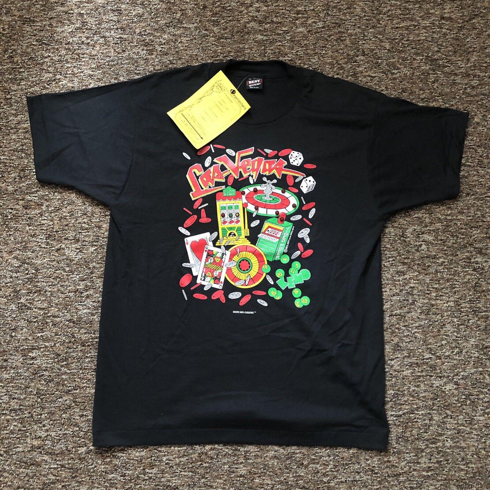Vintage Las Vegas T hemd (L) LED Farbspiel