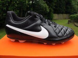 new products fe973 564fd Image is loading NIKE-TIEMPO-RIO-II-FG-R-JNR-Football-