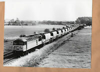 "56.064 freight train Harrowden junction ECC empties large original 10""x8"" photo."