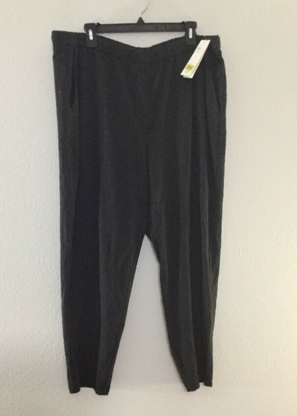 Eileen Fisher Cozy Tencel Stretch Jersey Slouchy Ankle Pant,Charcoal XL NWT