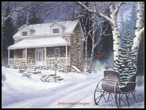 Chart-Needlework-Counted-Cross-Stitch-Patterns-Home-for-Christmas