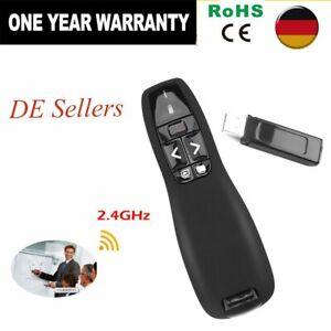 2.4GHZ Drahtloser USB-Fernbedienung Laserpointer Für PPT Presenter Pen Mouse NEW
