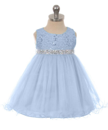 New Flower Girls Dress Pageant Wedding Christmas Party Baby Rhinestones Easter