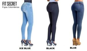 exceptional range of colors the best attitude Super discount Details about Colombian Padded Jeans for Skinny Legs with Butt Pads Natural  Butt Lifter Effect