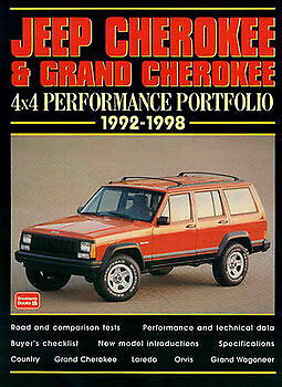 JEEP CHEROKEE BOOK PORTFOLIO GRAND WAGONEER BROOKLANDS