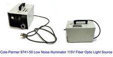 Cole Parmer 9741 50 Low Noise Illuminator 115v Fiber Optic Light Source