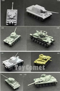 8-pcs-WWII-Military-Army-Battle-Tank-4D-Assembled-Model-Kit-1-144-Scale