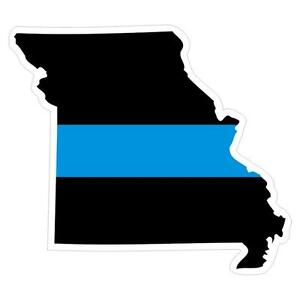 Missouri-MO-State-Thin-Blue-Line-Police-Sticker-Decal-189-Made-in-U-S-A