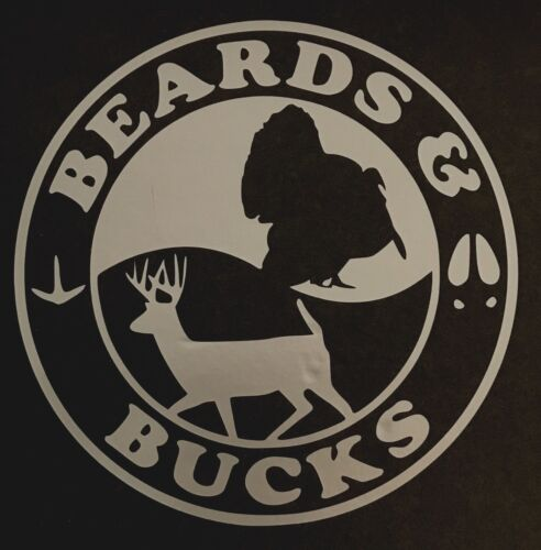 BEARDS AND BUCKS DECAL STICKER TURKEY FORD CHEVY DODGE VW JDM HONDA MAZDA TRUCK