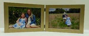 8x10-Silver-Champagne-Double-Hinged-Horizontal-Wood-Photo-Picture-Frame-New