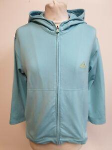 Consejo De ninguna manera Estado  Para mujer chándal Adidas azul amarillo emblema Stretch Chaqueta Con  Capucha Uk 14 nos 10 | eBay