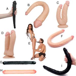 Double-Head-Dildo-Dual-Side-Anal-Penis-Lesbian-Sex-Vibrator-Vibe-Gay-Female-Toys