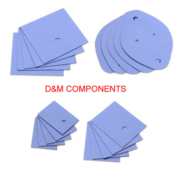 Thermal Conductivity Pads: TO, TO-3, TO-220, TO-247 - 1.5W/mK, Pack of: 5
