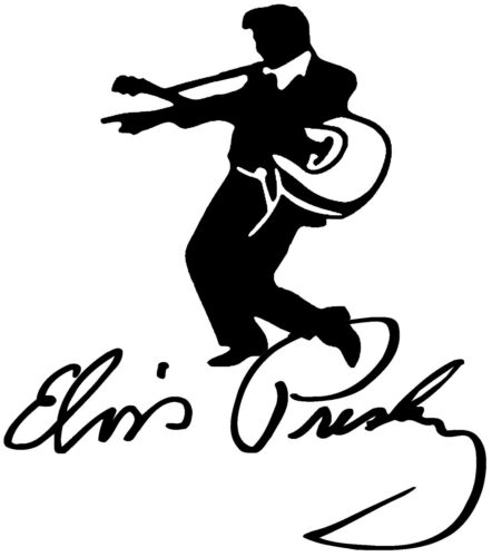 Elvis Le Roi Autocollant Vinyle Autocollant Pour Voiture Van Ordinateur Portable Tablette