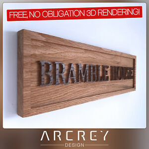 PERSONALISED-OAK-ADDRESS-SIGN-CUSTOM-ENGRAVED-OUTDOOR-WOODEN-NAME-HOUSE-PLAQUE