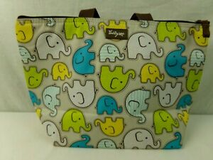 Thirty-One-31-Cheeky-Elephants-Thermal-Lunch-Bag-Tote-Multicolored-Gently-Used