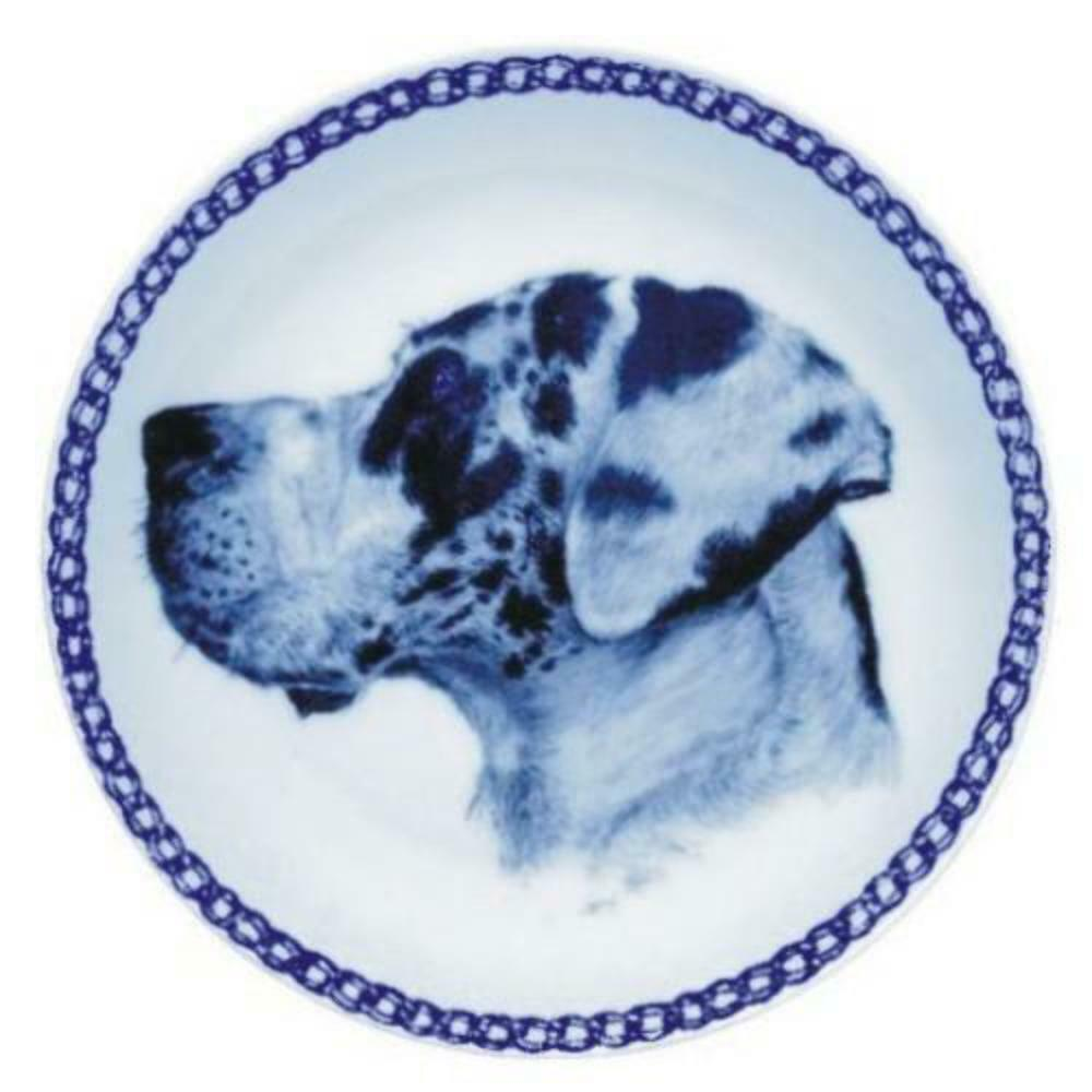 Great Dane  Dog Plate made in Denmark from the finest European Porcelain